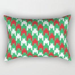 Christmas Catstooth Pattern Rectangular Pillow