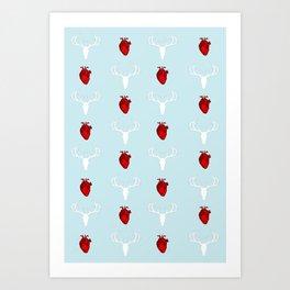 Hannibal Stag & Hearts Art Print