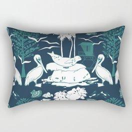 La Jolla California Beach Print Rectangular Pillow