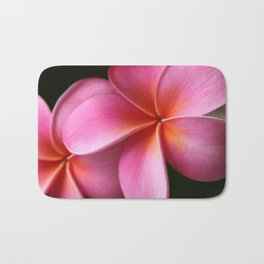 Pua Lei Aloha Cherished Blossom Pink Tropical Plumeria Hina Ma Lai Lena O Hawaii Bath Mat