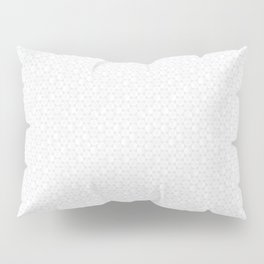 Modern Minimal Hexagon Pattern in Silver Gray and White Pillow Sham