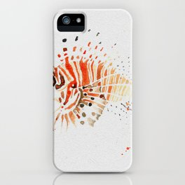 Lionfish in Ink iPhone Case