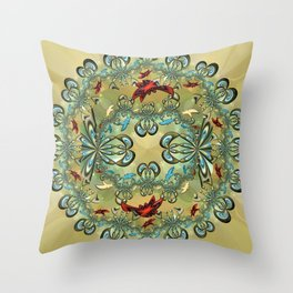A Jux Roundel Throw Pillow