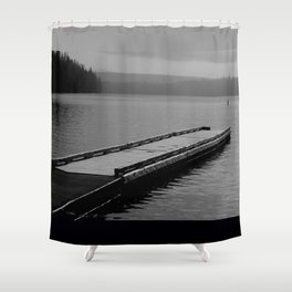 Suttle Lake in Gray and Black Shower Curtain