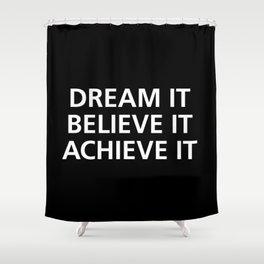 Motivational Shower Curtain