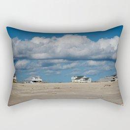 Clouds Over Beach Houses Rectangular Pillow