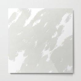 Beige Abstract Art, Minimalist Painting, Gray White Print, Metal Print
