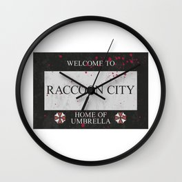 Resident Evil Welcome to Raccoon City Sign Wall Clock