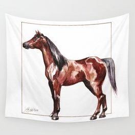 bay horse Wall Tapestry