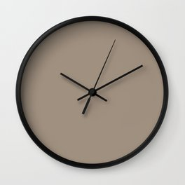 Sherwin Williams Trending Colors of 2019 Moth Wing (Light Brown / Taupe) SW 9174 Solid Color Wall Clock