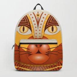 The Geocat, digital geometrical illustration Backpack