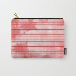 Seeing Red - Textured, geometric red Carry-All Pouch