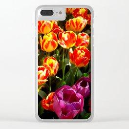 Broken Tulip Blooms Clear iPhone Case