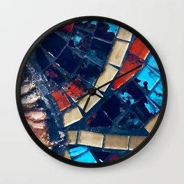 Vintage Italian Mosaic Tiles Wall Clock