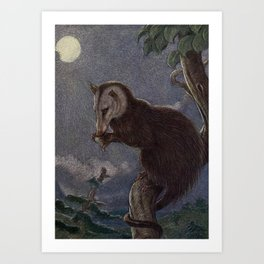 Vintage Possum Painting (1909) Art Print