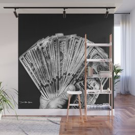 Money - Black And White Wall Mural