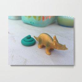 Dino Poop Metal Print