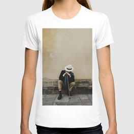 Italian man waiting in Florence | Europe travel photography | Art print | Firenze, Italy T-shirt