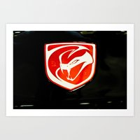 Dodge Viper Car Logo Art Print