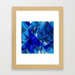 Blaue Kraniche Framed Art Print