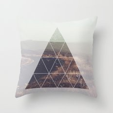 Prism Road Throw Pillow