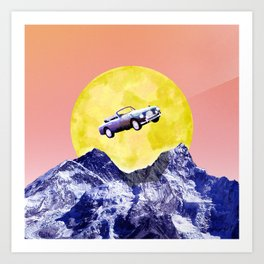Over the Alps! Art Print