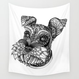 Ornate Schnauzer Wall Tapestry