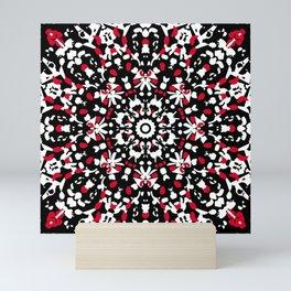 Rose window in red Mini Art Print