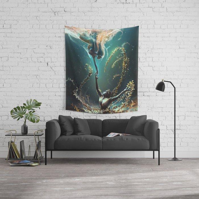 Underwater ballet Wall Tapestry