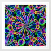 fireworks Art Prints featuring Fireworks by Sartoris ART