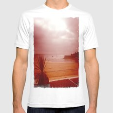 By the bay White MEDIUM Mens Fitted Tee