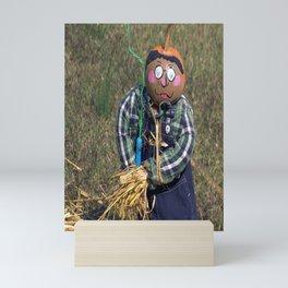 Scarecrow with Hay Mini Art Print