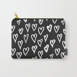 Pattern with hand-drawn Hearts Carry-All Pouch