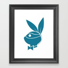 Playboy Turtle: Leonardo Framed Art Print