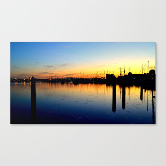 Close of Day, Over the Bay Canvas Print