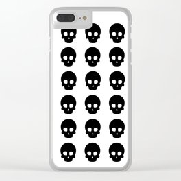 White Out Skullz Clear iPhone Case