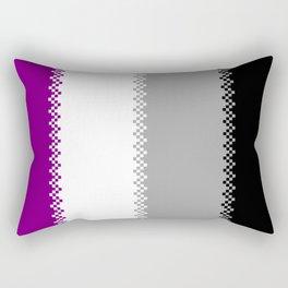 pixel pride- ace pride flag Rectangular Pillow