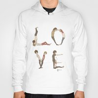 letters Hoodies featuring Love Letters by Meuphrosyne