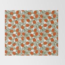 Bottlebrush Flower - White Throw Blanket