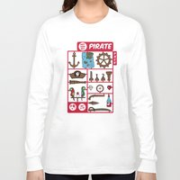 kit king Long Sleeve T-shirts featuring pirate kit by blablasah