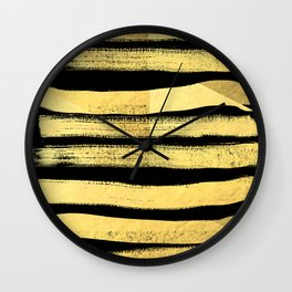 Sochie - black gold minimal black and white modern retro bold dramatic cell phone iphone case trendy Wall Clock