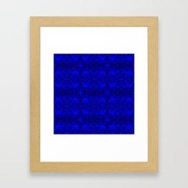 Kaleidoscope - Elephants - More Blue - Stamp Detail Framed Art Print