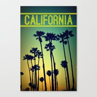 california Canvas Prints featuring CALIFORNIA by RichCaspian
