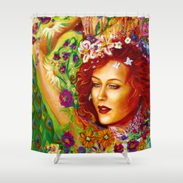 The Sparkling Flower Shower Curtain