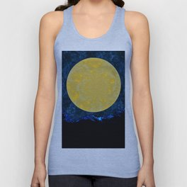 Beneath A Big Yellow Moon Unisex Tank Top