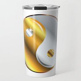 Yin and Yang Gold And Silver Travel Mug