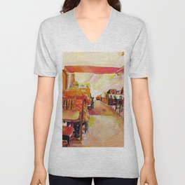 Falafel shop (short title) Unisex V-Neck