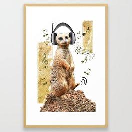 Jammin' Meerkat Framed Art Print