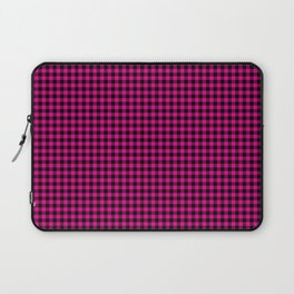 Mini Black and Hot Pink Cowgirl Buffalo Check Laptop Sleeve