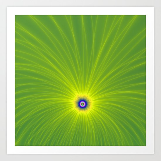 Color Explosion in Yellow and Green Art Print